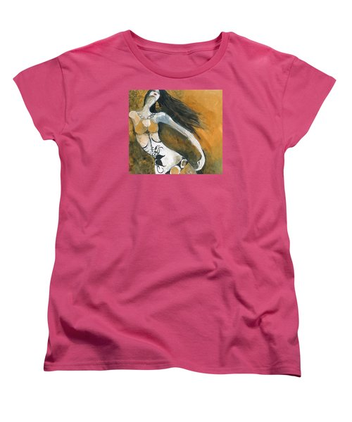 Women's T-Shirt (Standard Cut) featuring the painting Autumn Golds by Maya Manolova