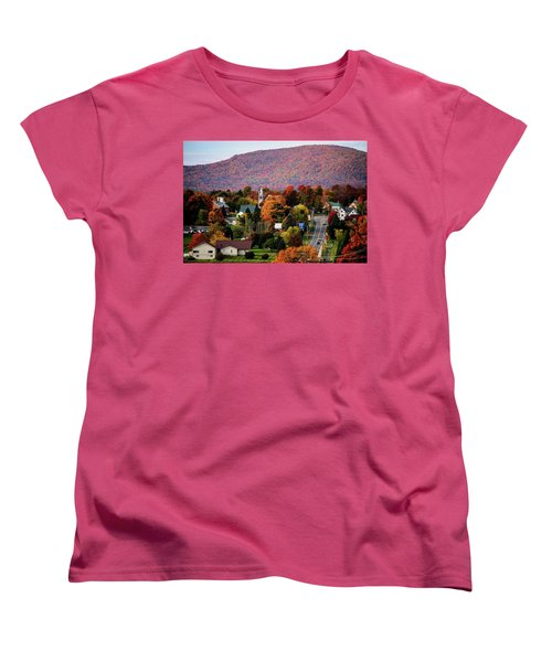 Autumn In Danville Vermont Women's T-Shirt (Standard Cut) by Sherman Perry