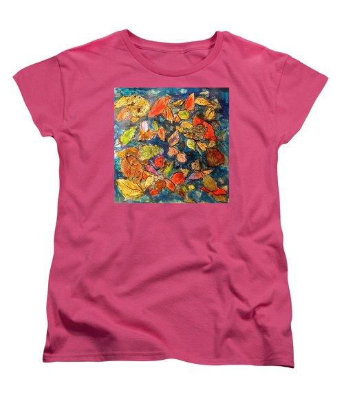 Autumn Leaves Women's T-Shirt (Standard Cut) by Barbara O'Toole