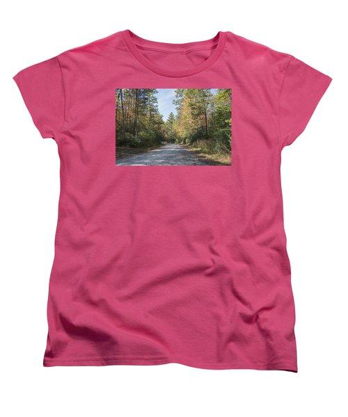 Autumn Road Women's T-Shirt (Standard Cut) by Ricky Dean