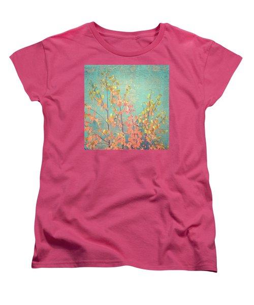 Women's T-Shirt (Standard Cut) featuring the photograph Autumn Wall by Ari Salmela
