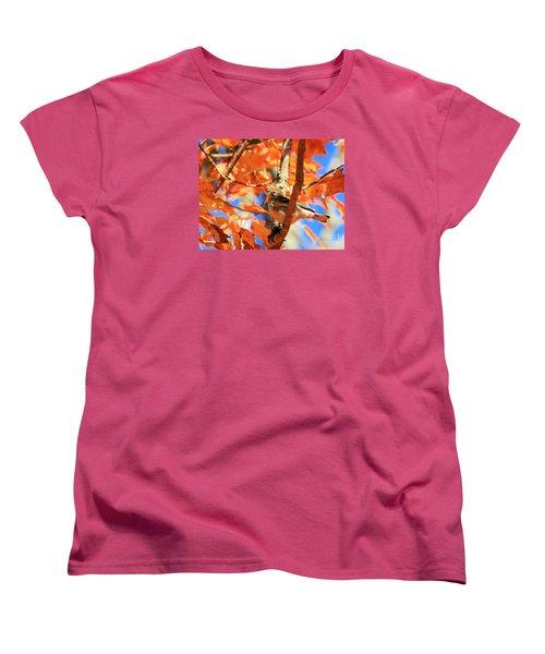 Autumn Warbler Women's T-Shirt (Standard Cut) by Debbie Stahre
