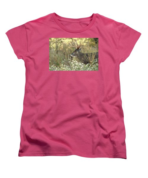 Autumn Whitetail In The Smokies Women's T-Shirt (Standard Cut) by TnBackroadsPhotos