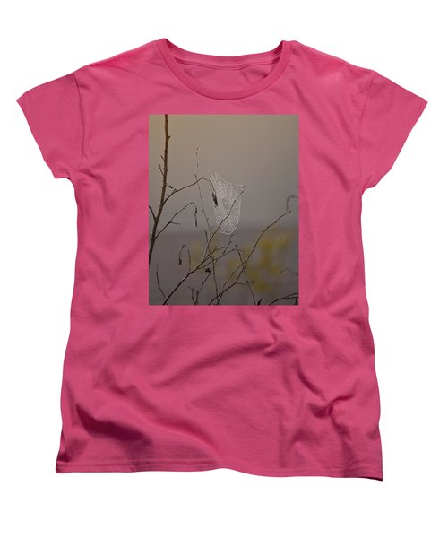 Autumns Web Women's T-Shirt (Standard Cut) by Susan Capuano