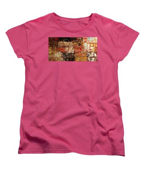 Women's T-Shirt (Standard Cut) featuring the painting Avant Garde by Carmen Guedez