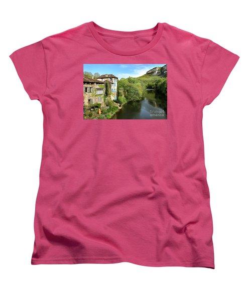 Aveyron River In Saint-antonin-noble-val Women's T-Shirt (Standard Cut) by RicardMN Photography