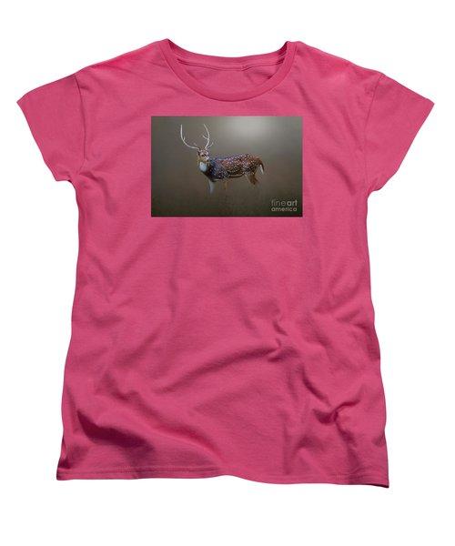 Axis Deer Women's T-Shirt (Standard Cut) by Marion Johnson