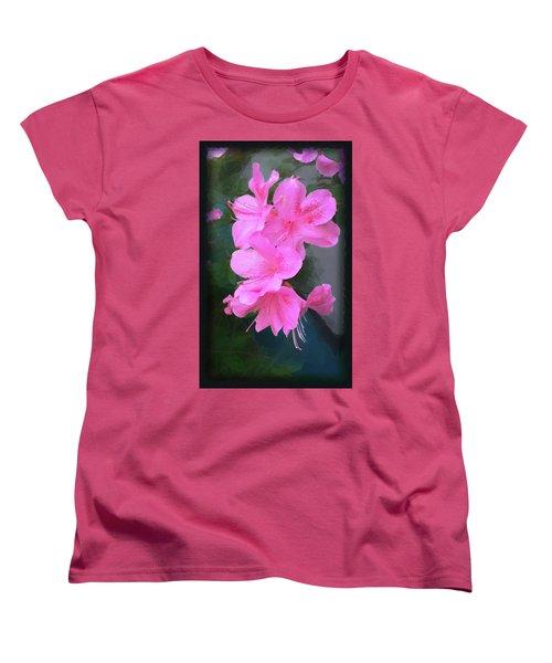 Women's T-Shirt (Standard Cut) featuring the digital art Azalea Spray by Ginny Schmidt