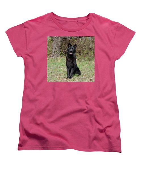 Women's T-Shirt (Standard Cut) featuring the photograph Aziza Sitting by Sandy Keeton