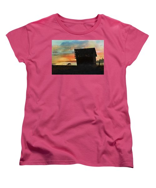 B. C. Barn # 1672 Women's T-Shirt (Standard Cut) by Ed Hall