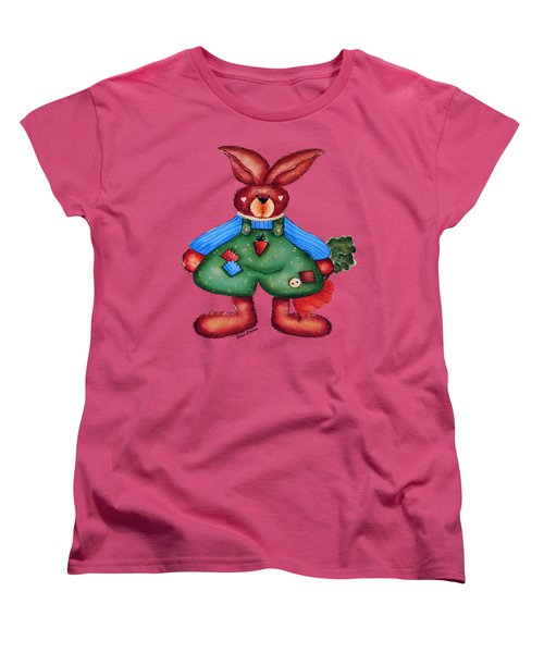 B Is 4bunny Women's T-Shirt (Standard Cut) by Tami Dalton