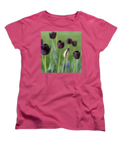 Women's T-Shirt (Standard Cut) featuring the photograph Baby Bloomer by Linda Mishler