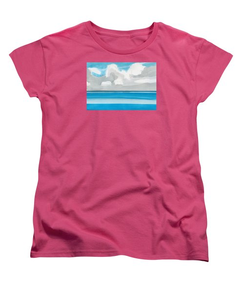 Women's T-Shirt (Standard Cut) featuring the painting Bacalar, Mexico by Dick Sauer