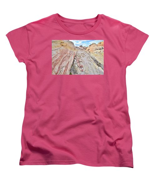 Back Country Valley Of Fire Women's T-Shirt (Standard Cut) by Ray Mathis
