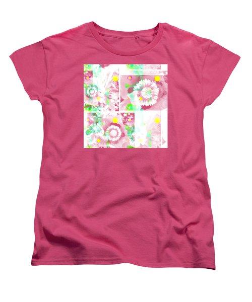 Colour Choice Poppy Collage Women's T-Shirt (Standard Cut) by Barbara Moignard