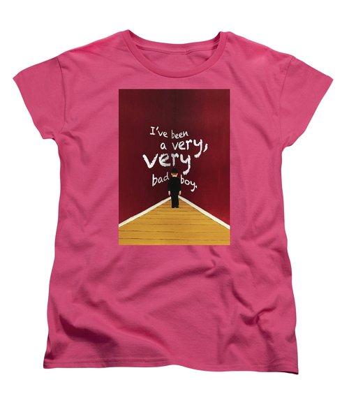 Bad Boy Greeting Card Women's T-Shirt (Standard Cut) by Thomas Blood