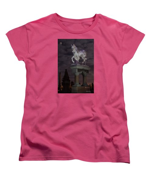 Baker Horse Under The Full Moon Women's T-Shirt (Standard Cut) by Stephen  Johnson