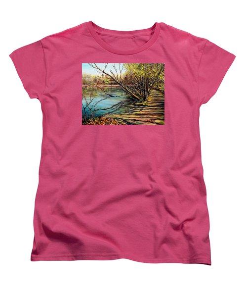 Bakers Pond Ipswich Ma Women's T-Shirt (Standard Cut) by Eileen Patten Oliver