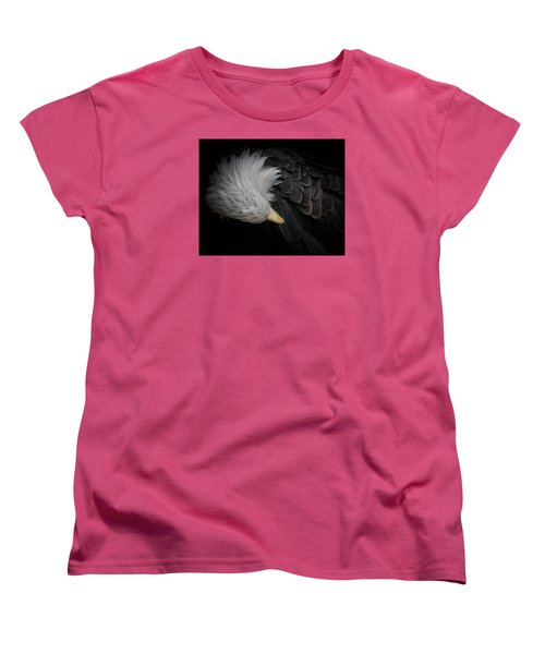 Bald Eagle Cleaning Women's T-Shirt (Standard Cut) by Ernie Echols
