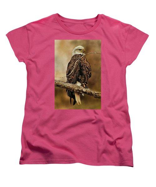 Bald Eagle Perch Women's T-Shirt (Standard Cut) by TnBackroadsPhotos