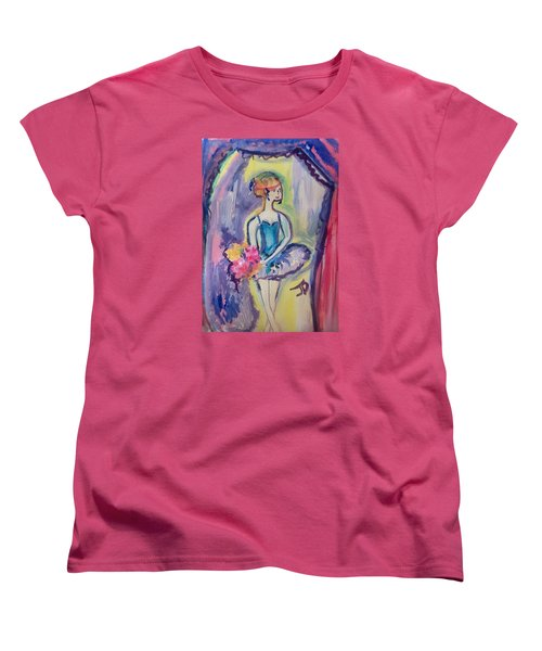 Ballerina Bouquet Women's T-Shirt (Standard Cut) by Judith Desrosiers