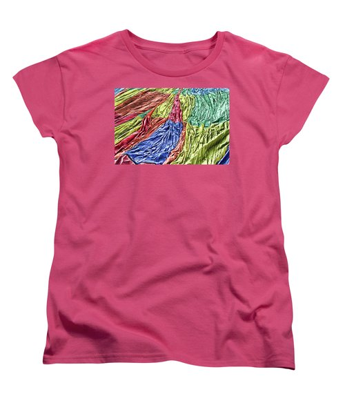 Women's T-Shirt (Standard Cut) featuring the photograph Balloon Abstract 1 by Marie Leslie