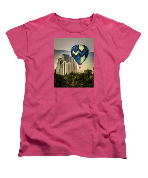 Balloon Over Reno Women's T-Shirt (Standard Cut) by Janis Knight