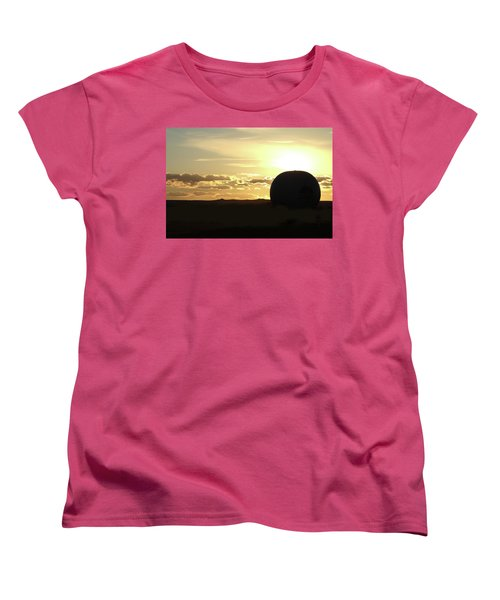 Women's T-Shirt (Standard Cut) featuring the photograph Balloonrise by Marie Leslie