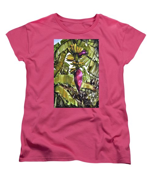 Women's T-Shirt (Standard Cut) featuring the painting Banana Tree No.2 by Chonkhet Phanwichien