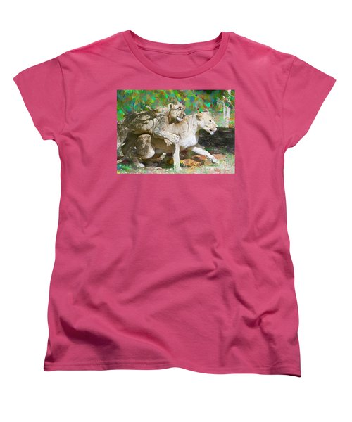 Women's T-Shirt (Standard Cut) featuring the painting Bare Back by Judy Kay