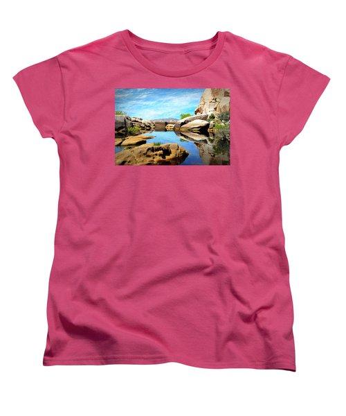 Barker Dam - Joshua Tree National Park Women's T-Shirt (Standard Cut) by Glenn McCarthy Art and Photography