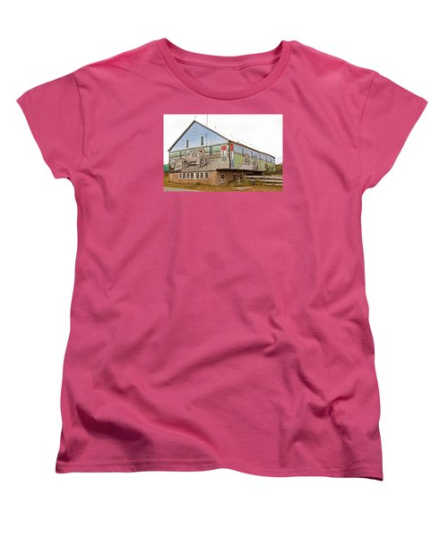 Women's T-Shirt (Standard Cut) featuring the photograph Barn In Bedford by Trina  Ansel