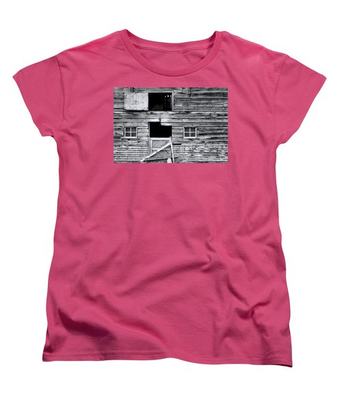 Barn Texture Women's T-Shirt (Standard Cut) by Wayne Sherriff