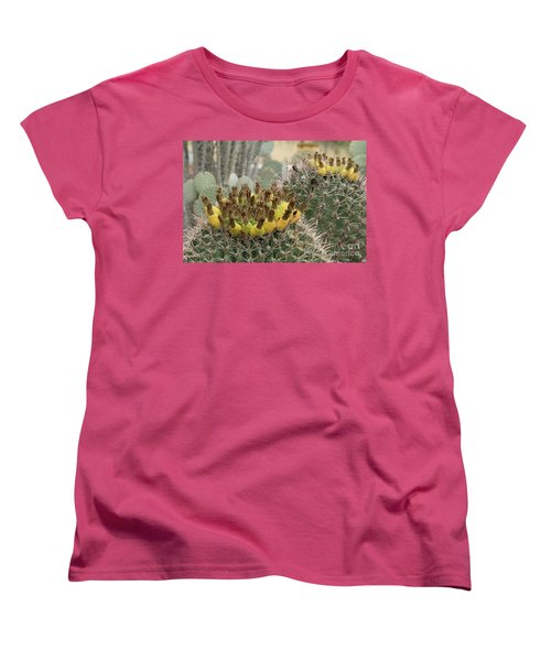 Barrel Cactus Closeup Women's T-Shirt (Standard Cut) by Anne Rodkin