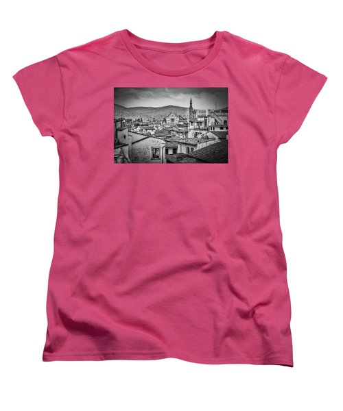 Basilica Di Santa Croce Women's T-Shirt (Standard Cut) by Sonny Marcyan