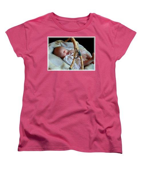 Basket Baby Women's T-Shirt (Standard Cut) by Ellen O'Reilly