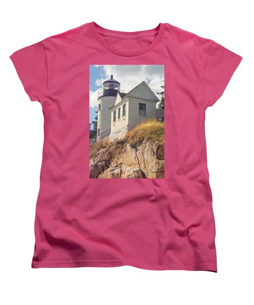 Women's T-Shirt (Standard Cut) featuring the photograph Bass Harbor Light Photo by Peter J Sucy