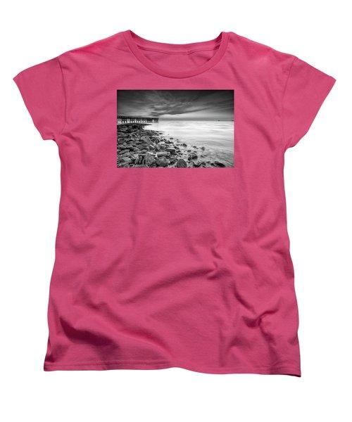 Women's T-Shirt (Standard Cut) featuring the photograph Bathe In The Winter Sun by Edward Kreis
