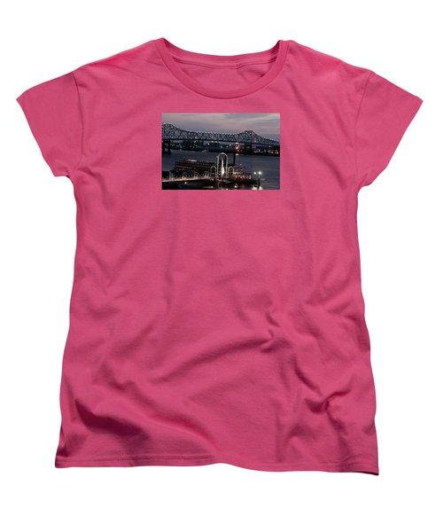 Women's T-Shirt (Standard Cut) featuring the photograph Baton Rouge Bridge by Helen Haw