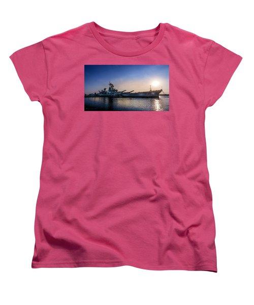 Women's T-Shirt (Standard Cut) featuring the photograph Battleship New Jersey by Marvin Spates