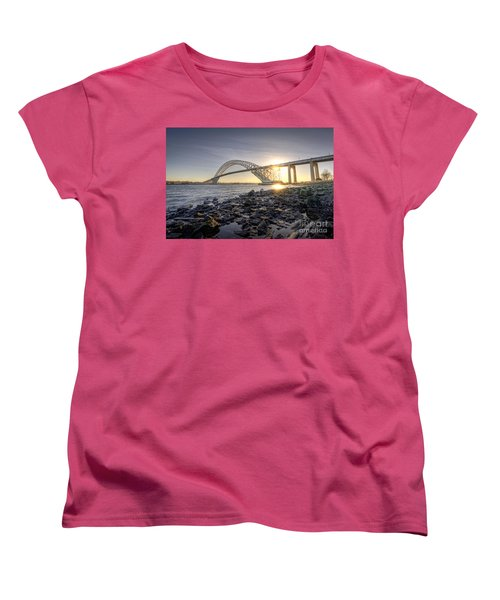 Bayonne Bridge Sunset Women's T-Shirt (Standard Cut)