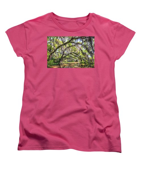 Bayou Cathedral Women's T-Shirt (Standard Cut) by Andy Crawford