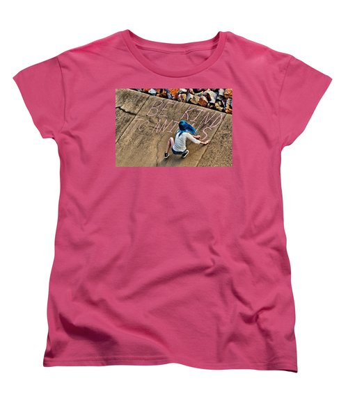 Women's T-Shirt (Standard Cut) featuring the photograph Be Kind To Animals by Linda Unger