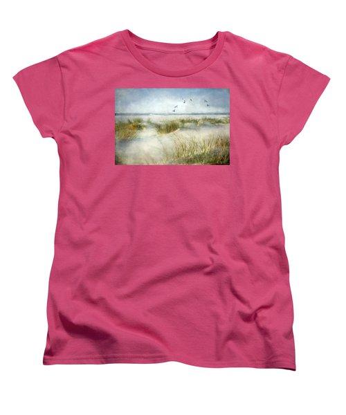 Beach Dreams Women's T-Shirt (Standard Cut) by Annie Snel