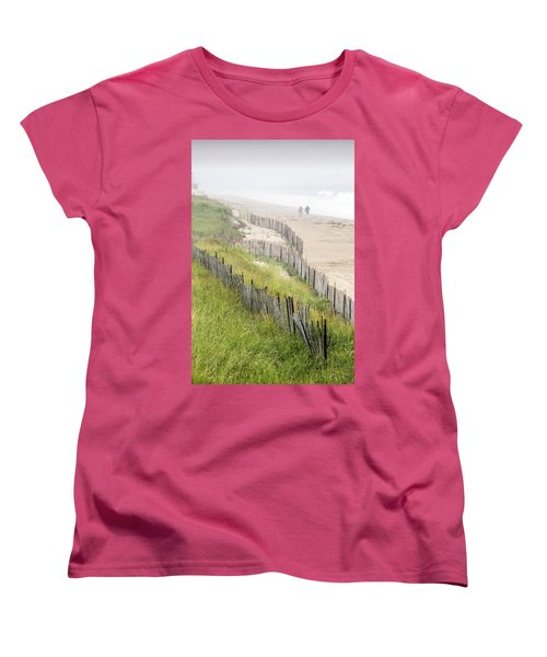 Beach Fences In A Storm Women's T-Shirt (Standard Cut) by Betty Denise
