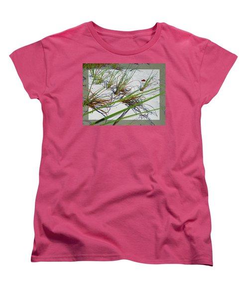 Women's T-Shirt (Standard Cut) featuring the photograph Beach Grass by Ginny Schmidt
