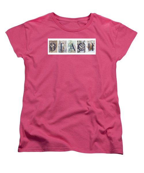 Beach Women's T-Shirt (Standard Cut) by Robin-Lee Vieira