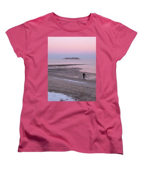 Beach Stroll Women's T-Shirt (Standard Cut) by John Scates