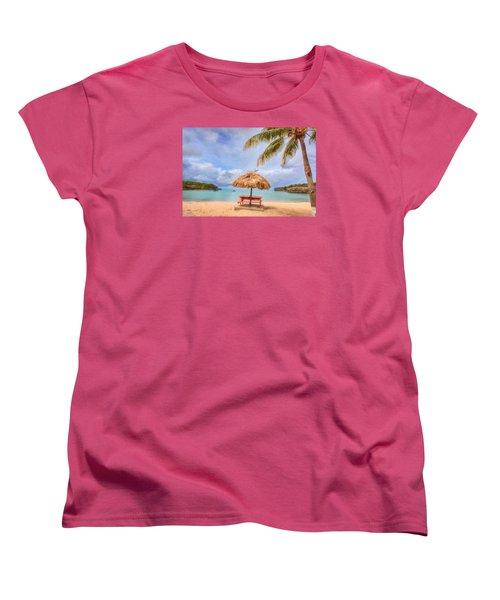 Beach Time Women's T-Shirt (Standard Cut) by Nadia Sanowar
