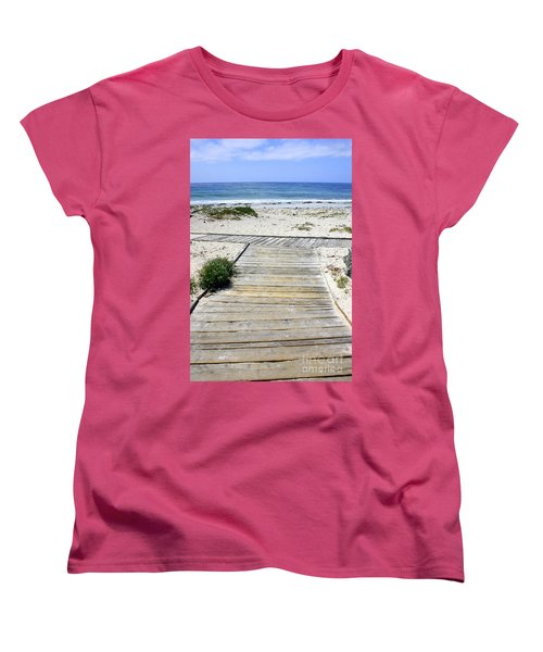 Beach Walk Women's T-Shirt (Standard Cut)